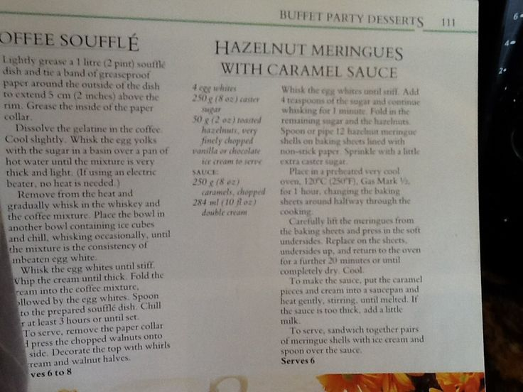 Hazelnut meringues