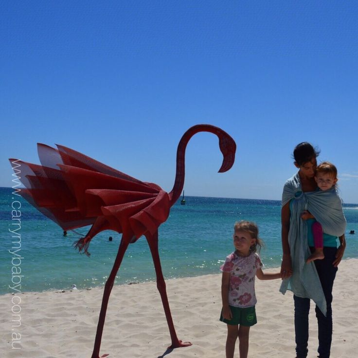 Comfy Joey Ring Sling - Sea Glass. Sculptures by the Sea 2015, Australia