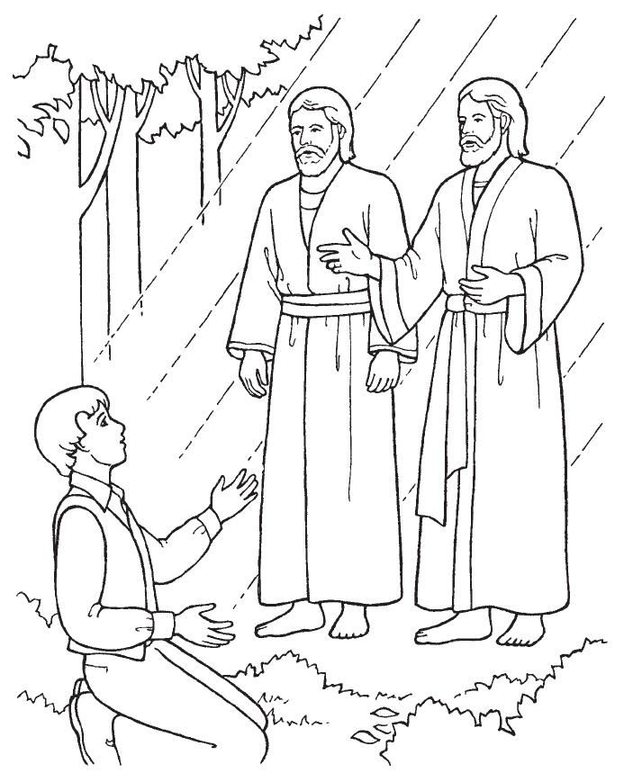 32 best primary images on pinterest church ideas for for Joseph smith first vision coloring page