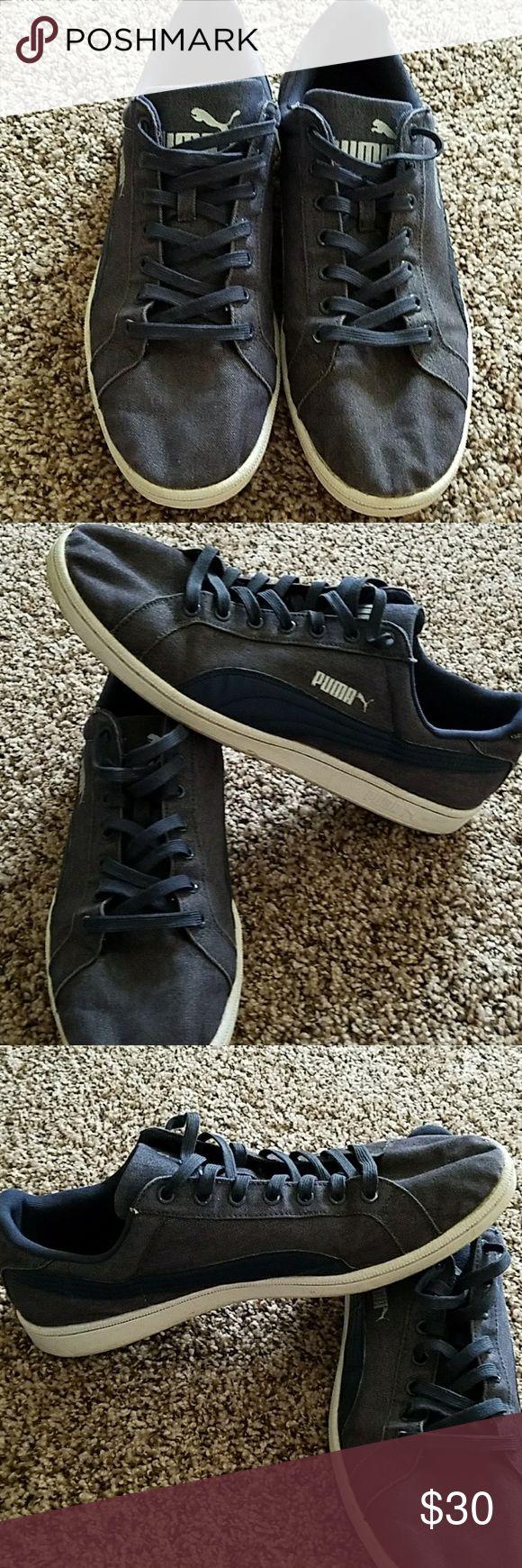 Men's Blue Puma's Blue pumas in excellent condition Puma Shoes Sneakers