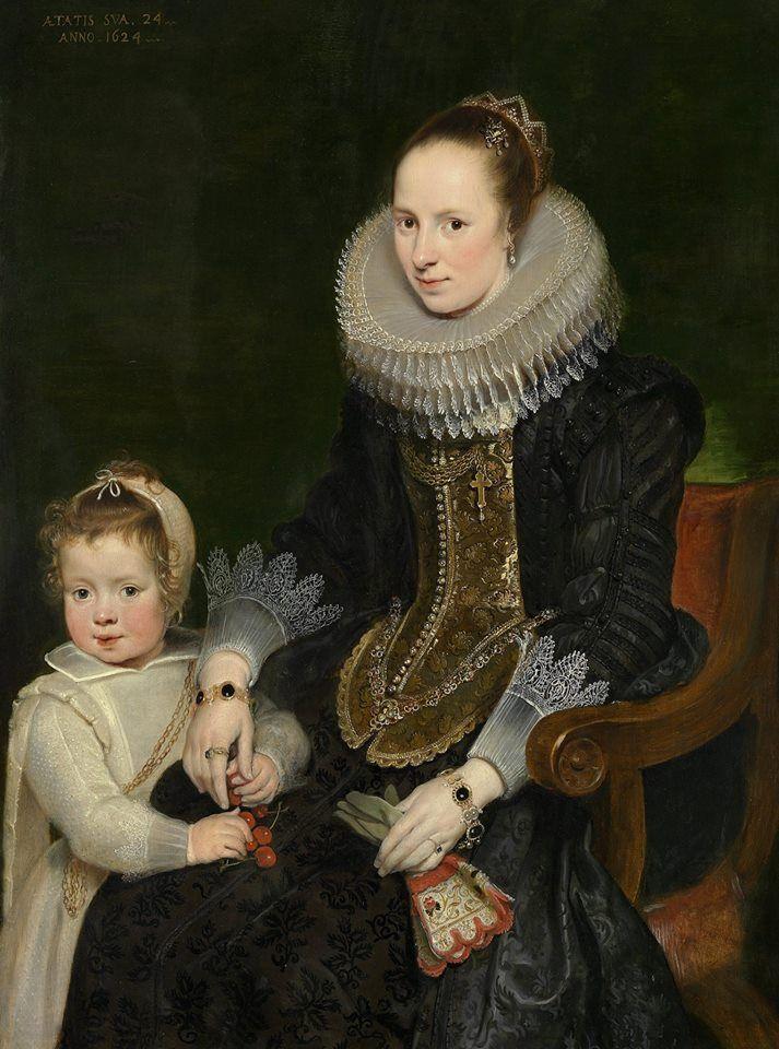 Корнелис де Вос (1584-1651) Мать и ребенок, 1624 Дерево, масло панели 1,2 х 0,9 м Национальная галерея Виктории.
