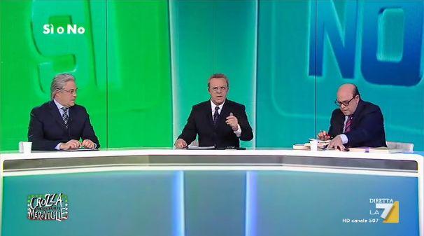 """Il confronto epico tra Razzi e Zagrebelsky da Mentana sul referendum a Crozza Nel Paese Delle Meraviglie Venerdì 14 ottobre 2016 è andato in onda su La7, come di consuete, il programma satirico di Maurizio Crozza dal titolo """"Crozza Nel Paese Delle Meraviglie"""".  Al suo interno, l'epico dibattito sul re #crozza #crozzameraviglie #streaming"""
