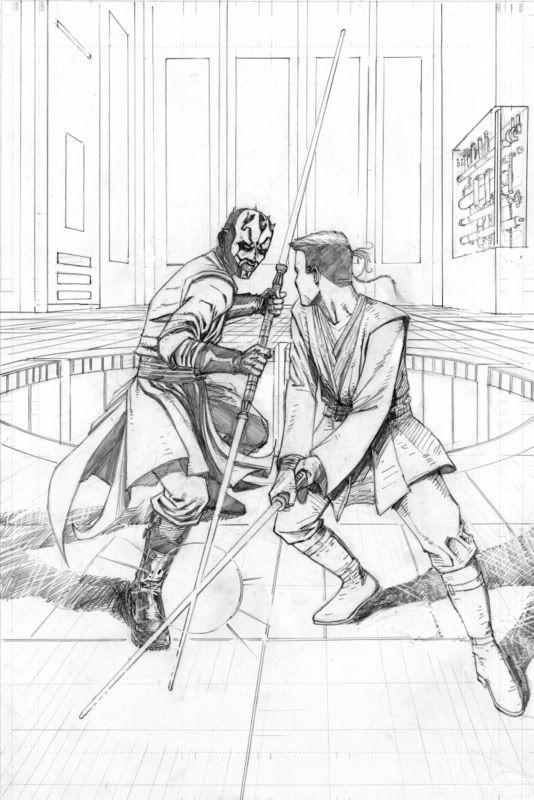 Darth Maul vs ObiWan Star Wars
