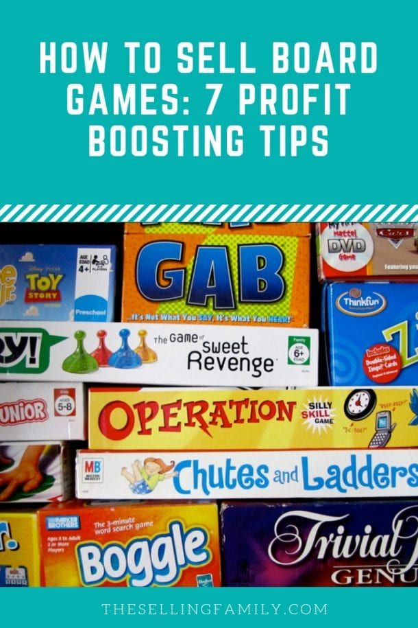 How To Sell Board Games 7 Profit Boosting Tips In 2020 Things To Sell Board Games Ebay Reseller