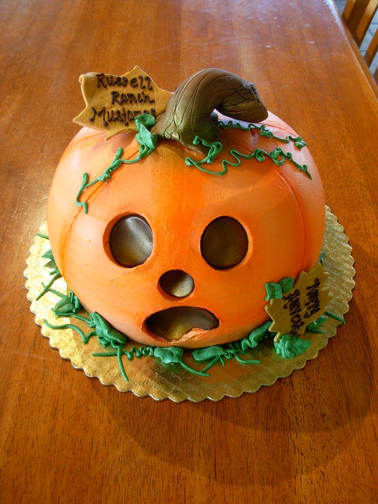 how to make a jack o lantern cake