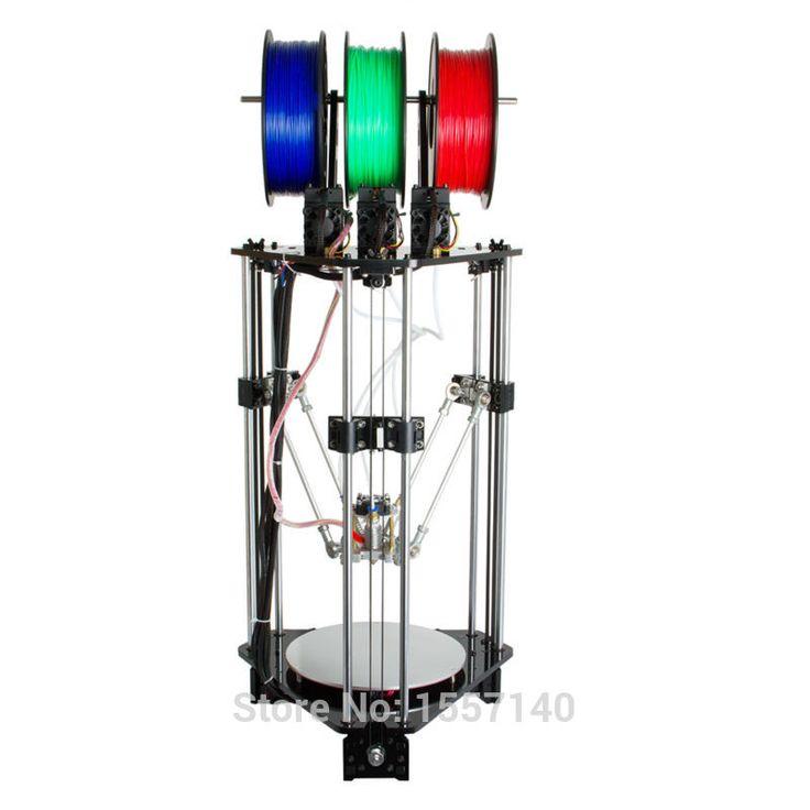 Последние Дельта Росток 3d-принтер DIT Комплект 3-in-1-out Цвета Смешивания 3D Печати Hotend LCD 2004