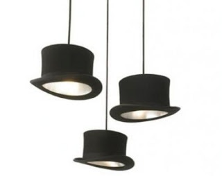 Diy hats lamp, cute for a themed bedroom