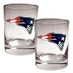New England Patriots Rock Glass Set of Two