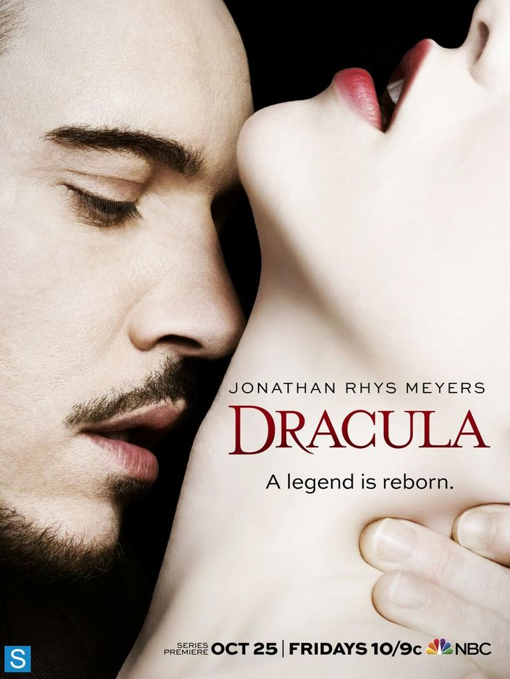 Dracula 2013 (Oct25 NBC S1 10E) poster • stars: Jonathan Rhys Meyers as Alexander Grayson (count Dracula) + Nonso Anozie as assistant R.M. Renfield + Victoria Smurfit as Lady Jayne Wetherby (Vampire expert) + Katie McGrath as D's obsession Lucy Westenra + Ben Miles as evil oil man cultist Browning