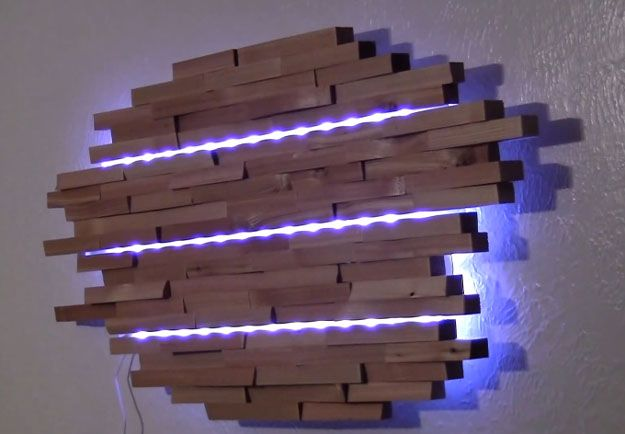 DIY Wooden Wall Lamp | DIY This Wooden Wall Lamp To Brighten Your Home This Cold Weather