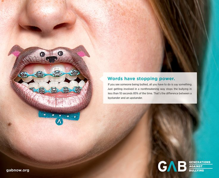 Print advertisment created by Bader Rutter, United States for Generations Against Bullying, within the category: Public Interest, NGO.