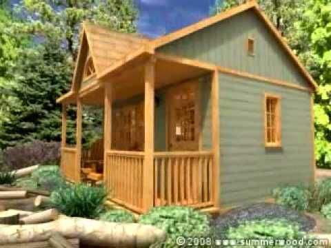 Canmore cabins prefab cabins via youtube small for Design your own cabin