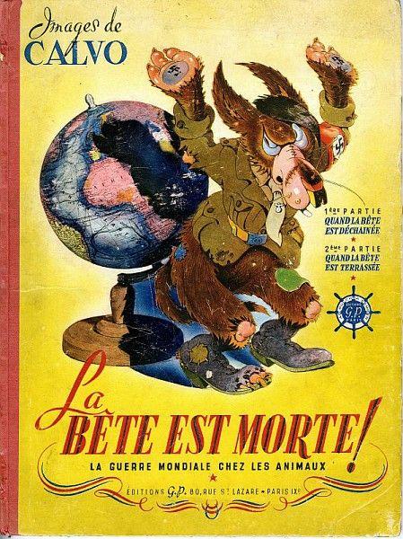 Edmond-François Calvo, La bête est morte, 1944 /  Collections du Musée du Vivant - AgroParisTech