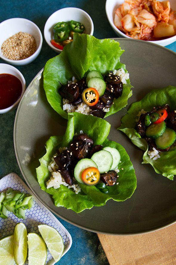 Mushroom Bulgogi Lettuce Wraps