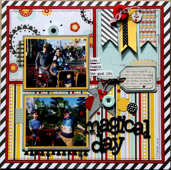 #papercraft #scrapbook #layout.  Magical Day