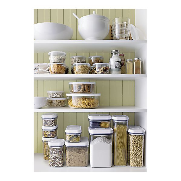 Pantry: Organization, Food Storage, Storage Containers, Clear Lid, Organize, Kitchen