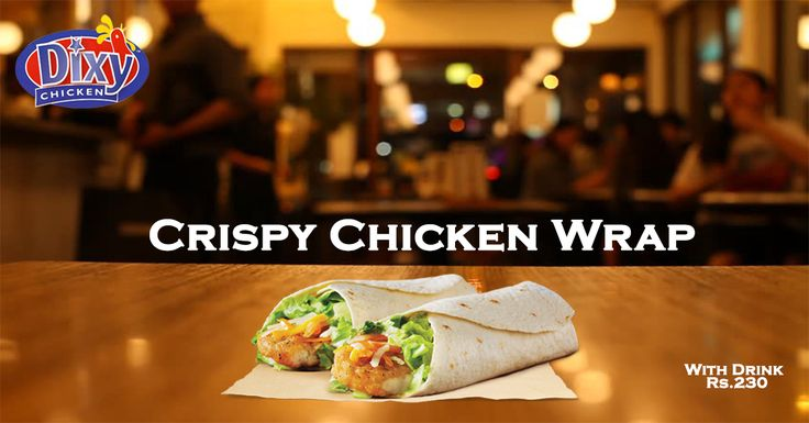 Crispy chicken wrap is of our #spicy #chicken varieties. it is topped with spicy #sauce, shredded lettuce, and cheese wrapped in warm tortillas. Order Online For Fast Delivery Or Drop By To Carry out. Dixy Chicken Lahore (893-D Faisal Town, Near Akbar Chowk). For Free Home Delivery Call Now: 0304-1113499 #Fries #Food #Rice #friedChicken #Burgers #Pizza #Spicy #PeriPeriChicken #HotDeals #GrilledChicken #Shakes #icecream #Grilled #Wings