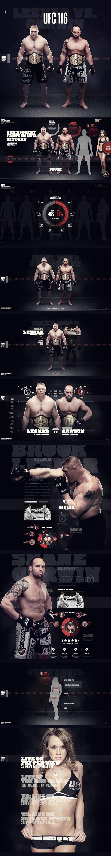 UFC 116 on Behance