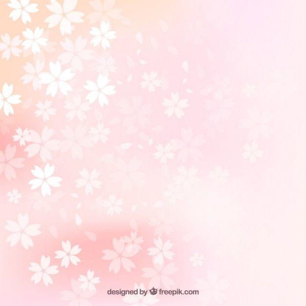 かすみ桜の背景 無料ベクター