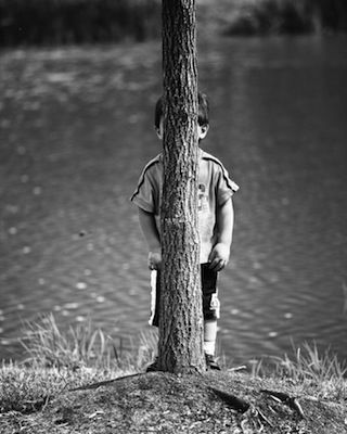 this is pure innocence....really believing that if I can't see you, then you can't see me