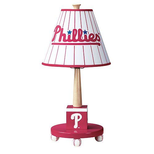 GUIDECRAFT PHILADELPHIA PHILLIES CHILDREN'S TABLE LAMP  - Click image twice for more info - See a larger selection of kids table lamps at http://tablelampgallery.com/product-category/kids-table-lamps/ - home, home decor, home ideas, desk lamp , gift ideas, lightning, lamp, kids lamp