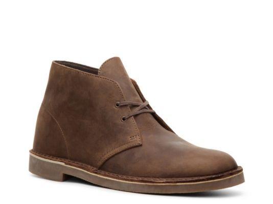 Men's Clarks Bushacre Leather Chukka Boot - Brown