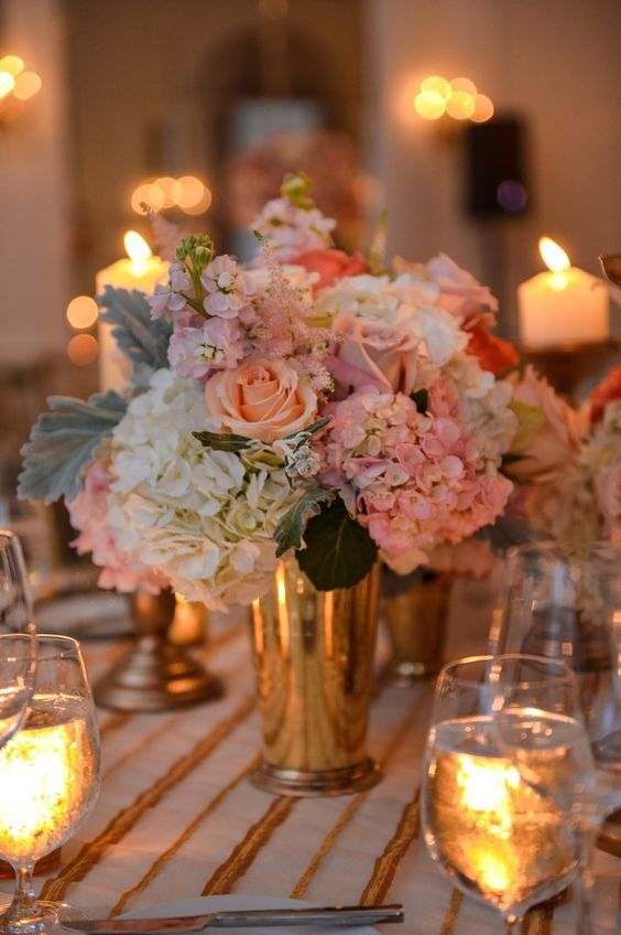 Wedding reception centerpiece idea; Featured Photographer: John Arcara Photography
