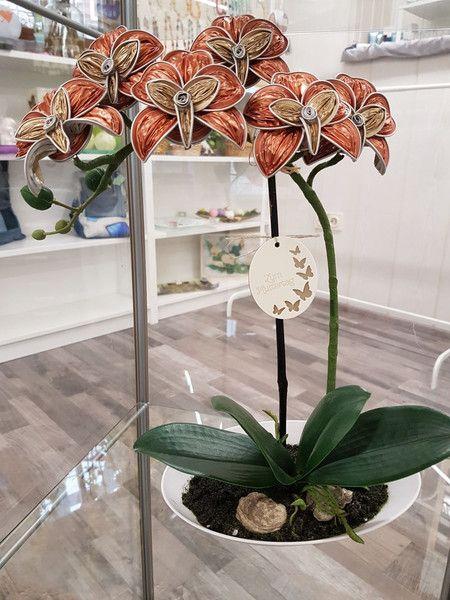 Deko-Objekte - Orchidee Nespresso Kapseln Upcycling 6 Blüten - ein Designerstück von Lunalux1002 bei DaWanda