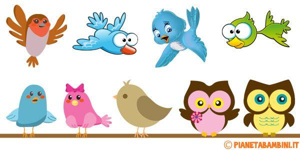 Simpatici uccelli gi colorati realizzati per bambini for Addobbi finestre scuola infanzia primavera