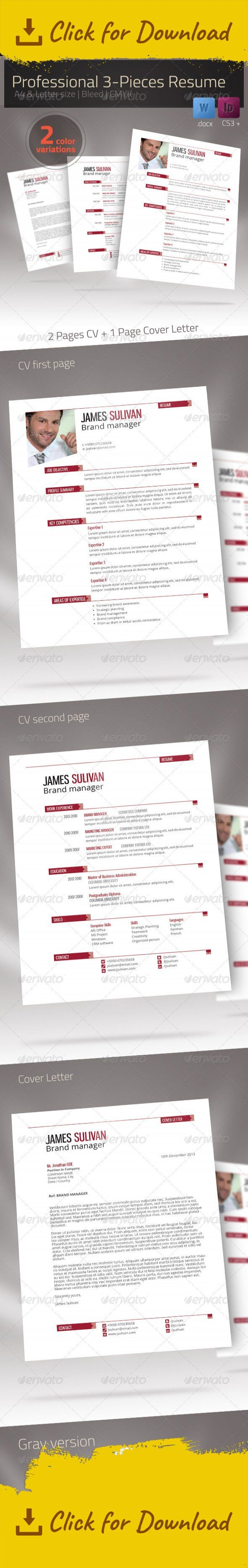 a4 business clean cover letter creative resume