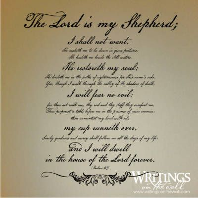 Essays and psalm 23