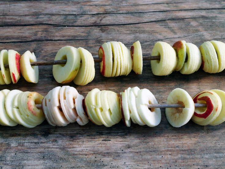 Torkade äppelringar | Recept från Köket.se