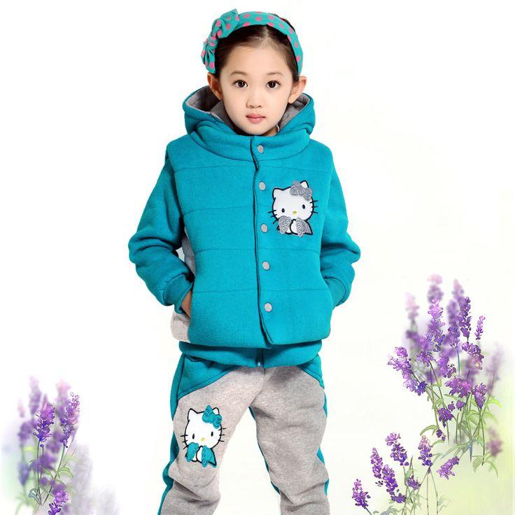 Na Ni niños oso nuevo muchachas de la historieta deportes de invierno 2014 versión coreana de la ropa de los de tres piezas traje de los niños Lynx David