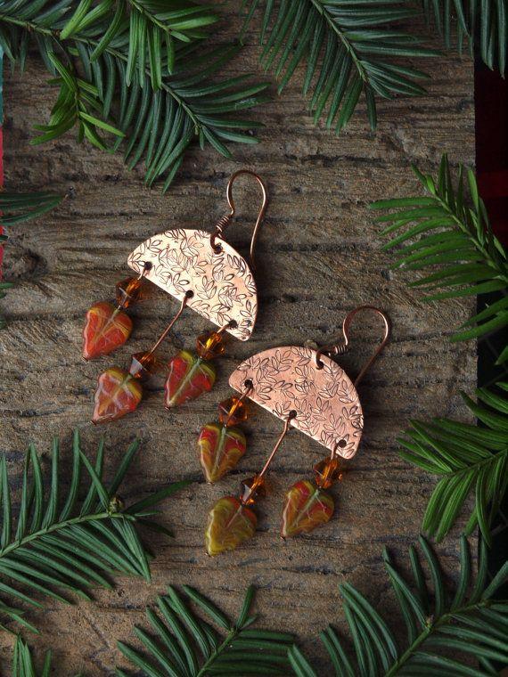 Autumn earrings by HandmadeEarringsUk