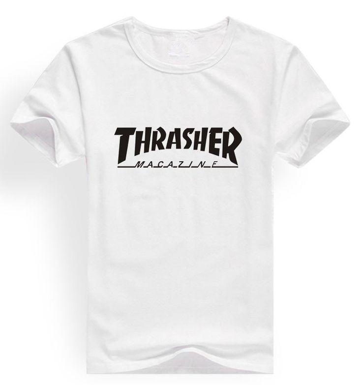 Thrasher t shirts  thrasher magazine skate tshirt thrasher flame fire skate t-shirt trasher t shirt  brand clothing - V-Shop