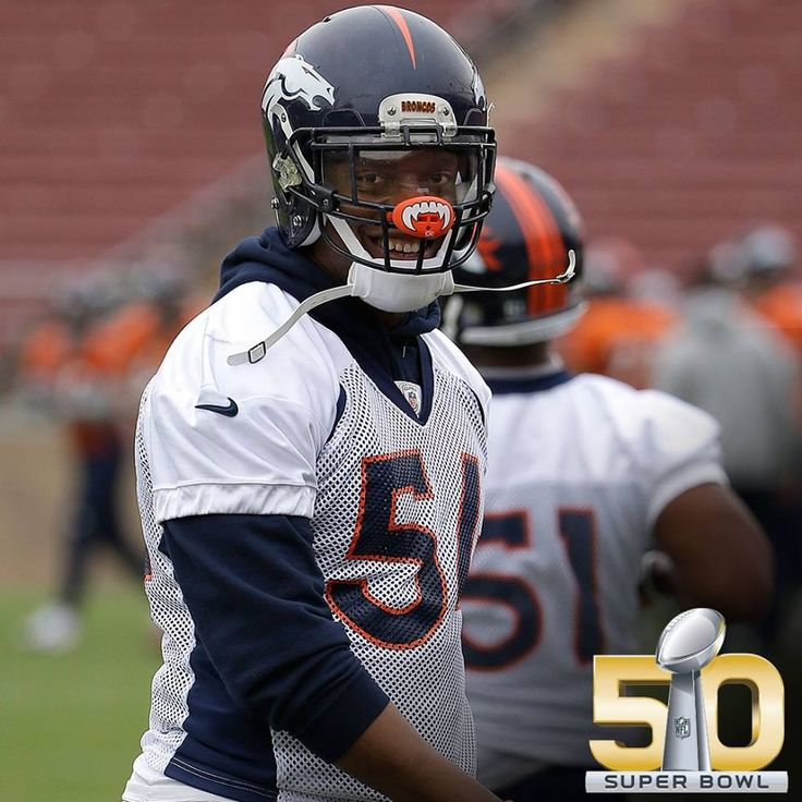 Broncos Brandon Marshall's mouth guard!