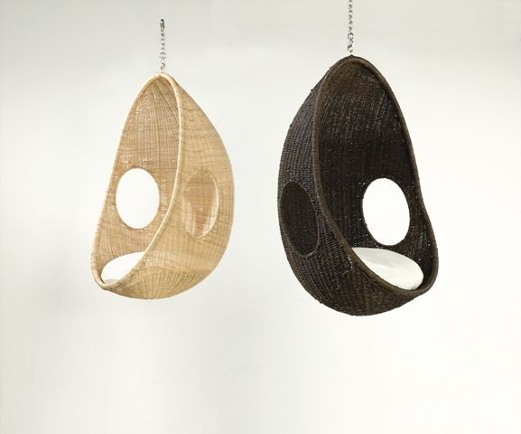beachwood furniture rattan and rope weave hanging pod chairs