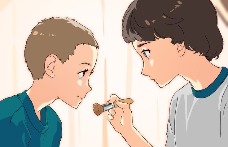 Eleven and Mike from Stranger Things by Godstime Ojinmah