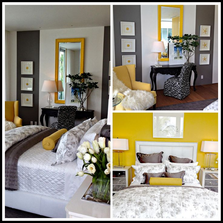 Yellow And Grey Bedroom Themes: Elle Decor Modern Life Concept