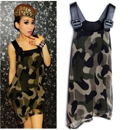 Camouflage Dress / Vestido Militar Wh291