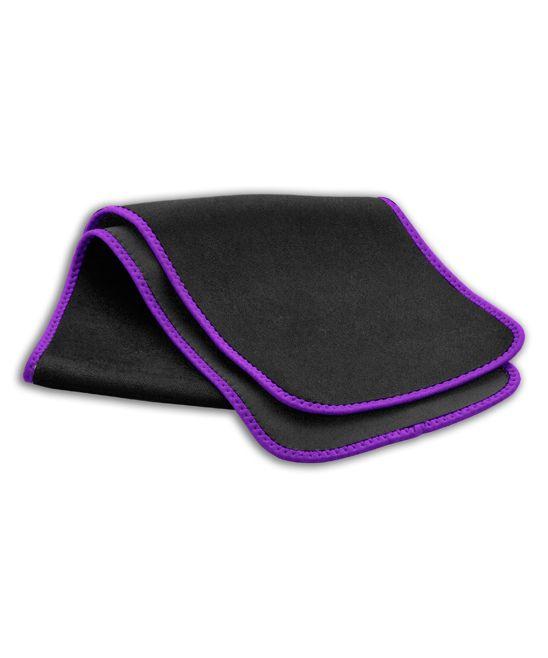 10'' Black & Purple Waist-Slimming Workout Belt - Women