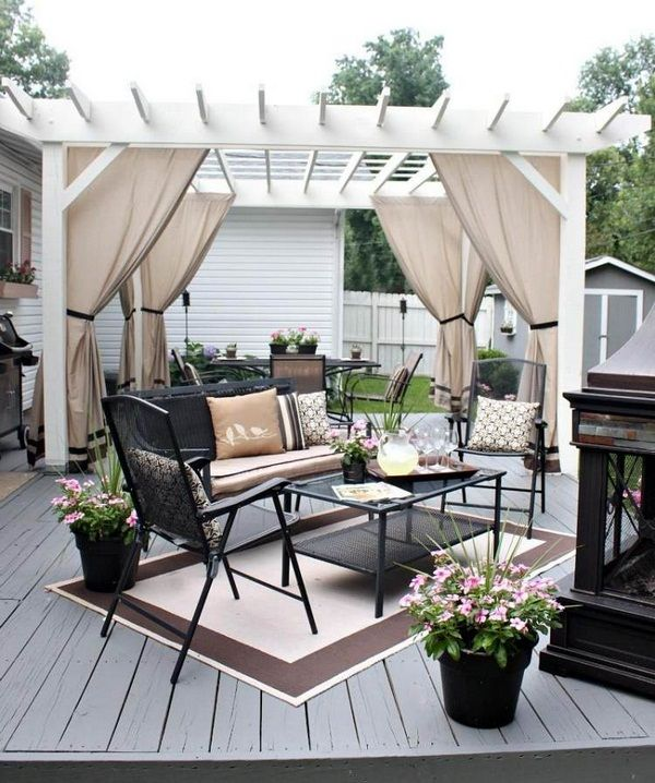 Pergola Designs With Curtains: 50 Ideas For Privacy In The