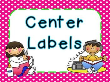 Enjoy these free center labels with bright frames!