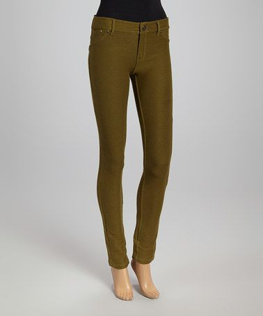 Look what I found on #zulily! Olive Skinny Pants - Women #zulilyfinds