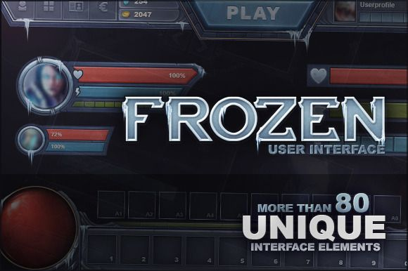 """I'm loving' this Cold Hearted GUI called """"Frozen UI"""" by EvilSystem on Creative Market."""