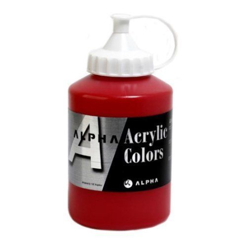 Acrylic Color Paint Alpha Silver 37 Colors 500ml 16.90oz Tube (Choose 1 Colors) #Alpha