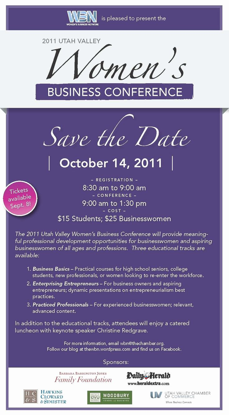 24 Save the Date Conference Flyer in 2020 Corporate