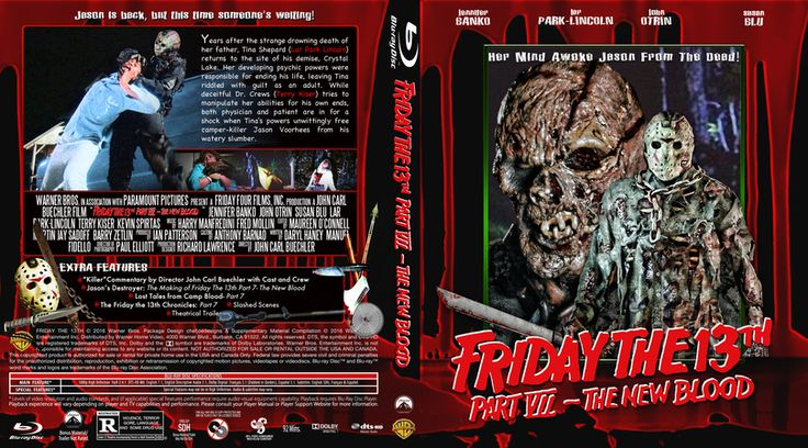 Friday The 13th Part 7-The New Blood Blu-ray Custom Cover