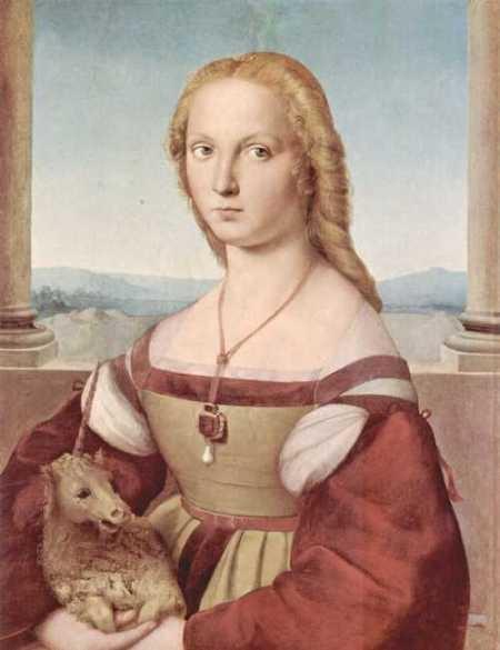 Rafael Sanzio. Dama del Unicornio: Renaissance, Raffaello Sanzio, Young Woman, Young Women, Art, Raphael, Painting, Unicorns