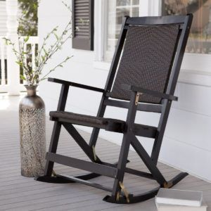 Outdoor Folding Wooden Rocking Chairs